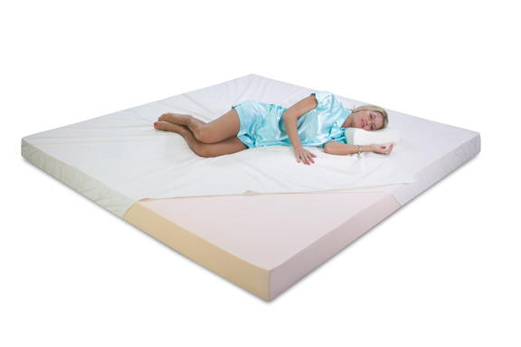 Get a great night sleep with a memory foam topper
